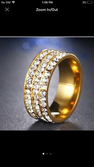 Gold tone stainless steel ring for Sale in Silver Spring, MD