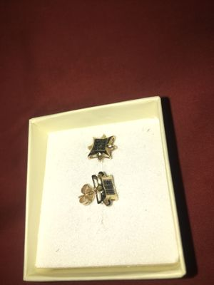 14k (STAMPED) Real Gold (Black Diamond) Earrings for Sale in Brooklyn, NY