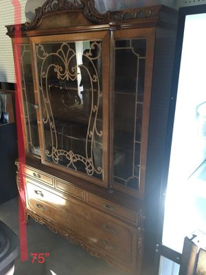 Firm price antique 1920's China cabinet had to move out from a historical home for Sale in Corona, CA