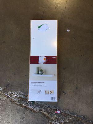 Home Decorators Collection 24 in. L x 8 in. W Profile White Shelf for Sale in Garden Grove, CA