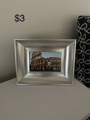 Silver 4x6 photo frame for Sale in Ann Arbor, MI