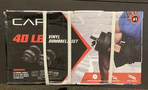 CAP 40lb Adjustable Vinyl Dumbbell Set for Sale in Chandler, AZ