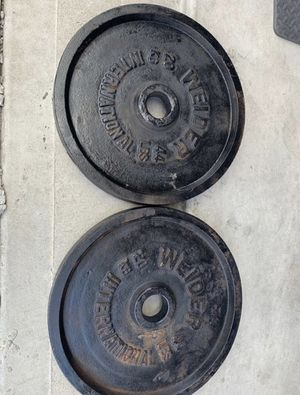 Olympic 2in weight plates-two 44lbs plates for Sale in Houston, TX