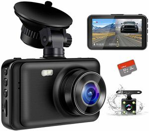 """Dash Camera for Cars, YOCHOS 1080P Front and Rear Dual Dash Cam, 3"""" LCD Screen 170° Wide Angle Dash Cam for Sale in Queens, NY"""
