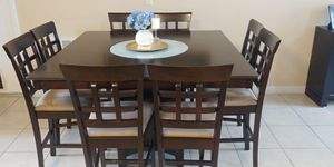 Counter height square dining table with 8 chairs for Sale in Haines City, FL