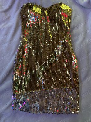 Gold Strapless Prom Dress for Sale in Riverdale, GA