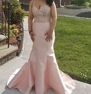 Blush pink prom dress prom girl for Sale in Elmwood Park, NJ