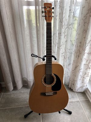 MINT Art & Lutherie Almond Dreadnought Acoustic Guitar and Gig Bag for Sale in Indian Shores, FL