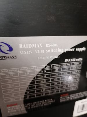 RAIDMAX RX-630A Volcano 630W Switching PSU for Sale in Portland, OR