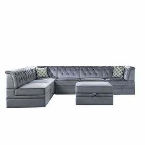 Android Collection 6 PCS Modern Modular velvet sectional-optional storage ottoman available! Super Sale! Now 1869.00 Free Delivery for Sale in Ontario, CA