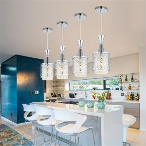 2Pcs Elegant Pendant Light Modern Iron Flower Pattern Ceiling Light Chandelier Lamp Lighting for Sale in Clarkston, GA
