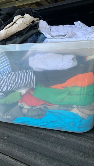 Men's clothes mixed sized large bottles xtra large for Sale in New Port Richey, FL