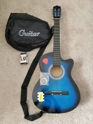 Electric Acoustic Guitar with Strap, Extra strings, Pitch Pipe, Digital Tuner, Peg and Carrier Bag for Sale in Cranberry Township, PA