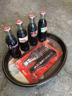 Coca-Cola memorabilia set (Christmas 1995 and Portland Trail Blazer bottles) for Sale in Beaverton, OR
