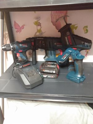"""""""New"""" Bosch 18V combo ( everything for $250) for Sale in Norman, OK"""