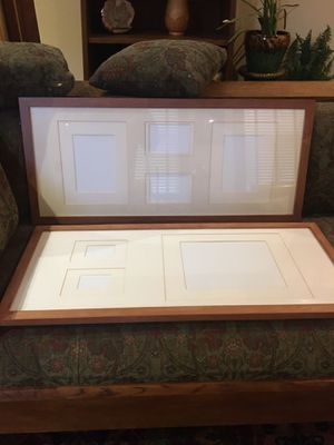 2 Large Frames for Multiple Photos Collage Hard Wood for Sale in Pittsburgh, PA
