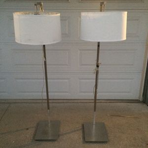 Tall Floor Lamp Set of Two.. approx 65 inch height for Sale in Rancho Cucamonga, CA