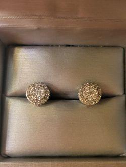 Diamond Earrings 10k White Gold for Sale in Las Vegas,  NV