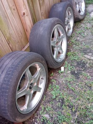 17 inch rims 4 lug... Came of a foxbody. Both set for sale ask for prices for Sale in Houston, TX
