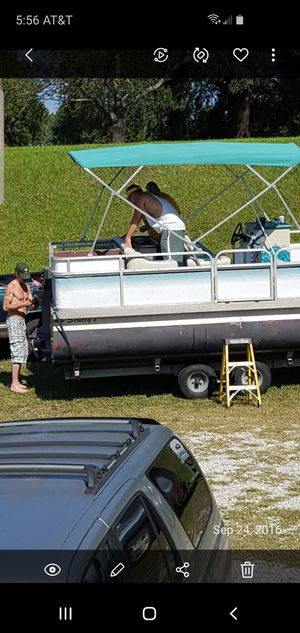 2002 Sculy 20' fishing pontoon boat for Sale in Florence, MS