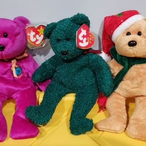 Ty Beanie Babies Millennium And 2001/2003 Holiday Bears for Sale in Norwalk, CA