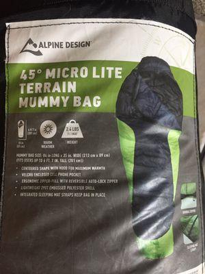 Alpine design 45° micro light sleeping bag for Sale in Dunedin, FL