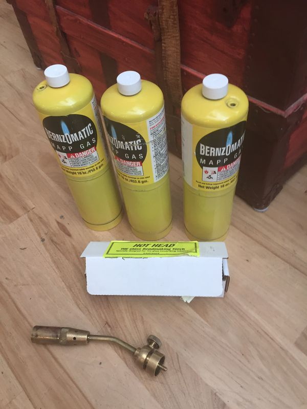 Mapp gas cylinders and beadwork Glass blowing portable torch for Sale in  Las Vegas, NV - OfferUp