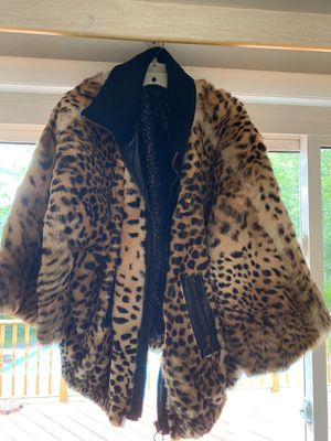 Vintage Dolce and Gabbana leopard faux fur coat (size 40) for Sale in Washington, DC