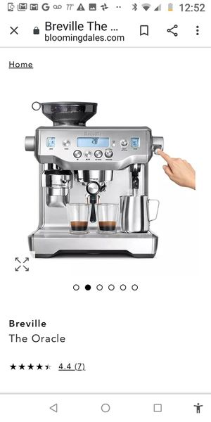 New oracle all-in-one barista breville espresso and coffee maker with bean grinder brand new in the box for Sale in Fort Lauderdale, FL