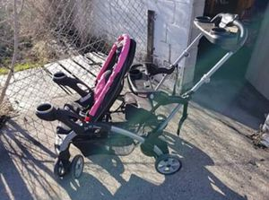 Pink Double Stroller/Carseat for Sale in Sandy, UT
