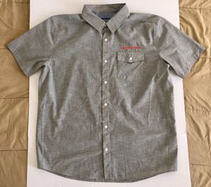 Patagonia New Belgium Organic Cotton Gray White Red Classic Work Shirt Men Sz XL for Sale in Tempe, AZ
