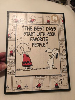 Peanuts picture wood frame $15 for Sale in Las Vegas, NV