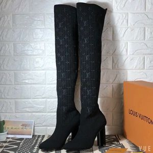 Authentic Louis Vuitton thigh high silhouette boots with box & dust bag size 9.5 for Sale in Austin, TX