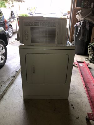 Maytag dryer and window ac for Sale in Olmsted Falls, OH