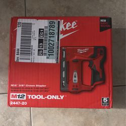 New Milwaukee M12 3/8 Crown Stapler for Sale in Fort Myers,  FL