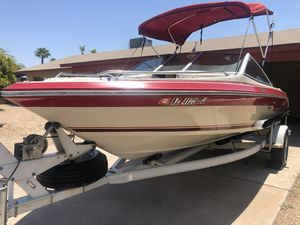 Open bow sea ray 135 hp motor runs good looking to sale today for Sale in Phoenix, AZ