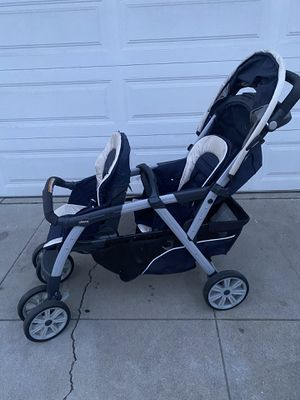 Chico cortina double stroller and car seat system for Sale in Bell Gardens, CA