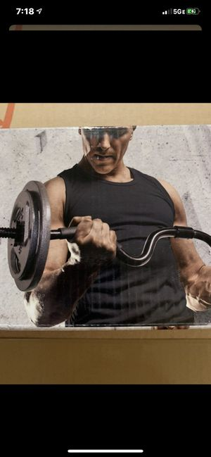 """CAP Combo Curl Bar. Holds Standard 1"""" weights for Sale in Elk Grove, CA"""