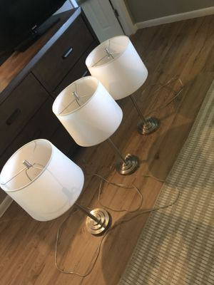Set of 4 Nickel Lamps for Sale in Oakland Park, FL