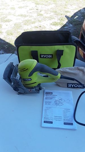 Ryobi Biscuit Joiner Double Insulated JM82G With Case Excellent Condition! for Sale in Cape Coral, FL