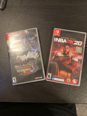 Monster Hunter and NBA 2K20 Nintendo Switch Games for Sale in Berkeley, CA