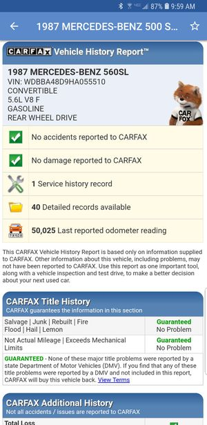 CARFAX AUTO REPORT ON ANY AUDI BMW LEXUS TOYOTA MERCEDES HONDA Ford INFINITI VOLKSWAGEN NISSAN GMC CHEVY prius Camry accord corolla sienna ALTIMA a4 for Sale in New York, NY