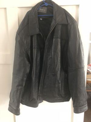 Croft and Barrow Men's Black Leather Coat (XL) for Sale in Aldie, VA