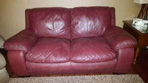 Burgundy Leather couch and loveseat for Sale in Sanford, NC