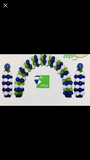 Zephyr balloon arch set new\open box for Sale in Wilmington, MA
