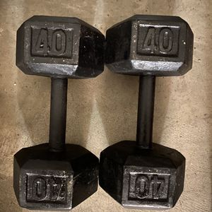 40 Lbs Dumbbells Excellent Condition for Sale in Irvine, CA