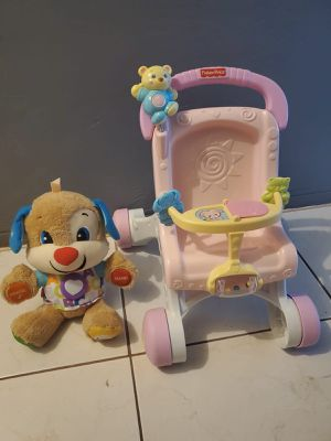 BABY DOLL WALKER AND A FISHER PRICE EDUCATIONAL DOLL for Sale in Miami, FL