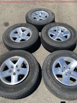 17 inch Jeep Wheels and Tires! CHEAP for Sale in Fresno,  CA