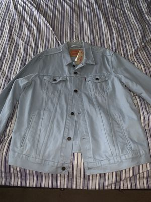 Levis jeans jacket new with tags size is xxl for Sale in Perris, CA