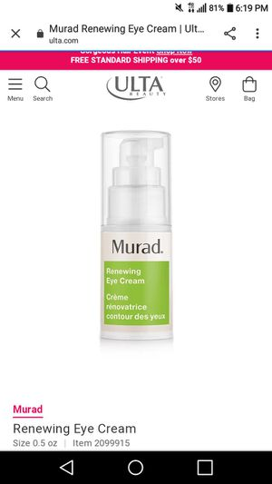 Murad eye cream with pepetide & retinol for dark circles & wrinkles & puffiness- never used - brand new - retails for 82 dollars for Sale in Irvine, CA